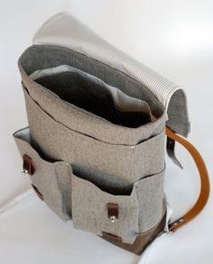 The Wayfarer Backpack in Heather Gray Wool