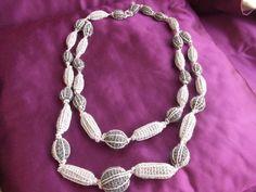 collana griggio argento uncinetto, by maglieria magica, 25,90€ su misshobby.com