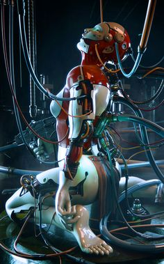 Wee Blue Coo Painting Illustration Science Fiction Rocket Ship Astronaut Moon USA Unframed Wall Art Print Poster Home Decor Premium Cyberpunk 2077, Cyberpunk Girl, Cyberpunk Character, Cyberpunk Anime, Cyborg Girl, Female Cyborg, Human Cyborg, Chica Cyborg, Arte Steampunk