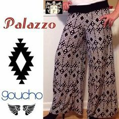 I just added this to my closet on Poshmark: NWT wide leg Goucho Aztec tribal Palazzo pants. Price: $38 Size: L