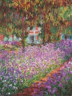 Monet's Garden at Giverny, by Claude Monet. I LOVE MONET