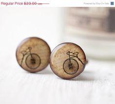 Retro bicicleta gemelos amante de la bicicleta por BeautySpot, $19.55