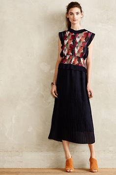 Albion Pleated Dress #anthropologie