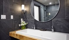 Basement Bathroom: Behind the Design - Home to Win Spa Like Bathroom, Basement Bathroom, Small Basements, Finished Basements, Small Basement Design, Remodeling Companies, Basement Remodeling, Room Decor, House Design