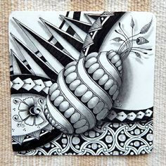 """""""It's a String Thing"""" and my weekly tiles Zentangle Drawings, Doodles Zentangles, Doodle Drawings, Tangle Doodle, Zen Doodle, Doodle Art, Zantangle Art, Zen Art, Doodle Patterns"""