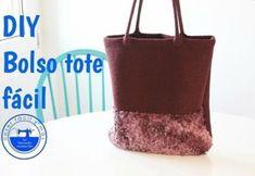 DIY para hacer un bolso tote Craft Tutorials, Sewing Tutorials, Diy Tote Bag, Craft Videos, Purses And Bags, Boss, Crochet, Emoji, Youtube