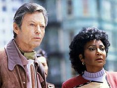 The Voyage Home - Caption: McCoy and Uhura in 20th-Century San Francisco.