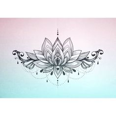 The Lotus Mandala is the symbolic representation of enlightenment. Resting your gaze on the lotus mandala can enlighten your spirit and enhance your mental growth. Lotusblume Tattoo, Cover Up Tattoos, Body Art Tattoos, Sternum Tattoos, Tattoo Neck, Tattos, Tattoo Thigh, Sternum Tattoo Lotus, Doll Tattoo