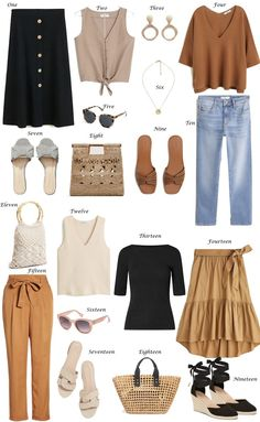 Spring/Summer pieces to keep you looking chic 2019 summer outfits damen - ☀ Sommer Outfits 2019 ☀ - Mode İdeen Capsule Outfits, Fashion Capsule, Mode Outfits, Fashion Outfits, Trendy Outfits, Chic Outfits, Fashion Tips, Fashion Quiz, 2020 Fashion Trends