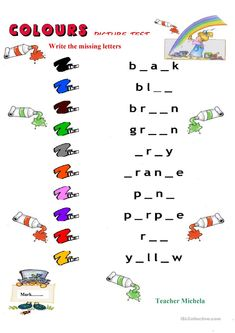 Colours picture test 3 worksheet - Free ESL printable worksheets made by teachers English Grammar For Kids, Learning English For Kids, English Lessons For Kids, Kids English, English Words, English Vocabulary, Teaching English, Learn English, 2nd Grade Reading Worksheets
