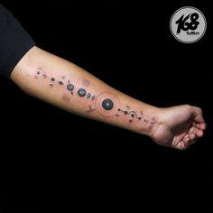 Solar system symbol tattoo #tattoos