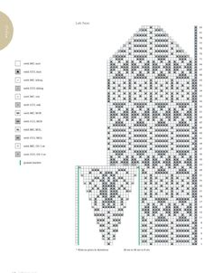 from Knitscene Accessories - 2014 Knitted Mittens Pattern, Knit Mittens, Mitten Gloves, Knitting Socks, Knitting Charts, Knitting Patterns, Fair Isle Knitting, Knit Crochet, Cross Stitch