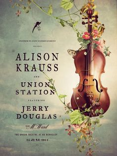 Alison Krauss Poster by Adam Larson, via Behance | Theater Poster
