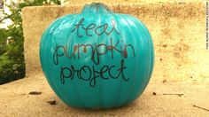 Teal pumpkins try to change Halloween for kids with food allergies via CNN Health #TealPumpkinProject