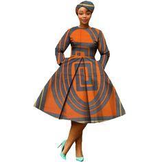 african clothing 2018 autumn women dress AFRIPRIDE full sleeve calf-length ball grown women casual dress with headscraf Short African Dresses, African American Fashion, African Fashion Designers, Latest African Fashion Dresses, African Print Dresses, African Print Fashion, Ankara Fashion, Africa Fashion, African Dress Styles