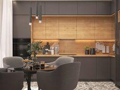 Stylish interior designs for modern kitchen - kitchen loft strict Kitchen Room Design, Kitchen Cabinet Design, Modern Kitchen Design, Home Decor Kitchen, Interior Design Kitchen, Home Kitchens, Kitchen Ideas, Kitchen Designs, Kitchen Trends
