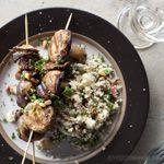 Grilled Mushrooms w/ Pine Nut & Apple Burghul Salad