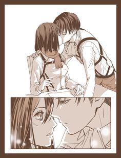 Page 2 of 10. Rivamika Doujinshi. (Levi x Mikasa) :♥♡ @xTwistedxAngel♡♥