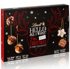 Boîte Lindt Hello Noël 175g - Chocolats Lindt - Boutique France Brand Packaging, Packaging Design, Chocolat Lindt, Chibi Food, Chocolate Brands, Mince Pies, Chocolate Packaging, Food Drawing, Dessert Drinks