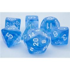 RPG Dice Set (Borealis Blue) role playing game dice