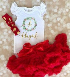 Christmas Mermaid Outfit for Baby Girls, Holiday Mermaid Bodysuit for Girls, Ruffle Bodysuit, Red Ru My First Christmas Outfit, Girls Christmas Outfits, Baby Girl Christmas, Newborn Christmas, Baby Mermaid Outfit, Mermaid Bodysuit, Whimsical Christmas, Classic Outfits, Toddler Outfits