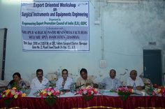 Dignitaries on the dais. From left to right Mrs. Anima Pandey, Regional Director (ER), EEPC India, Mr. Kamal Das, Secretary, BSIMA, Baruipur, Mr. Arun Kumar Garodia, Regional Chairman-ER, EEPC India, Mr. Tapas Biswas, Asst. Officer In-charge sub Office DIC,SME, Mr. T K Paul, Director, Paul Instrument and Mr. Suman Kr. Neogi, President, Cottage & Small Scale Industries Association.