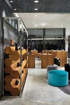 Sergio Rossi men's concept store, Footwear boutique, Hankyu Men's, Tokyo   Teruhiro Yanagihara /