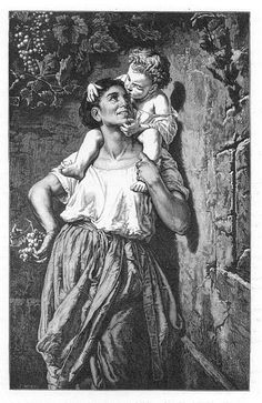 Little Boy Kissing Mother French Art Masterpiece - Diggit Victoria Wood Engraving, French Art, Kissing, Little Boys, Original Paintings, Victoria, Art Prints, Artist, Image
