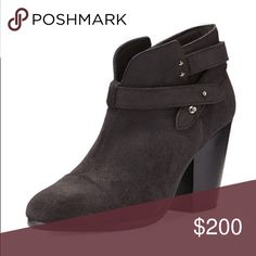 Rag & Bone Harrow Booties black suede Fantastic condition rag & bone black suede booties, No box size 38 although these run a little small would fit a 7.5 best. Worn a handful of times!! rag & bone Shoes Ankle Boots & Booties