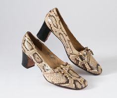 1960's Snakeskin Shoes Mod Pumps Designer Brogues door missfarfalla, $62.00