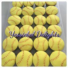 Softball Cupcakes Softball Cupcakes