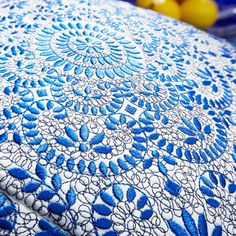 Wonderful embroidery! Details on the pillow. - Blocks of Symmetry