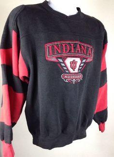 Vtg 90s Savvy Indiana Hoosiers Crewneck Sweatshirt Sz M Medium University Sewn | eBay