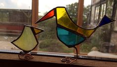 Crazy little glass birdy. Made from glass scraps