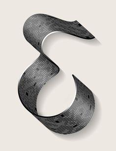 Abstract Typographic Experiments | Abduzeedo