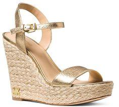 6997b154e6bc MICHAEL Michael Kors Women s Jill Leather Espadrille Platform Wedge Sandals