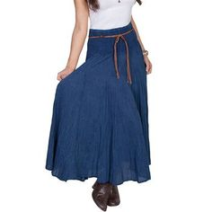 Scully Women's Acid Wash Broomstick Skirt