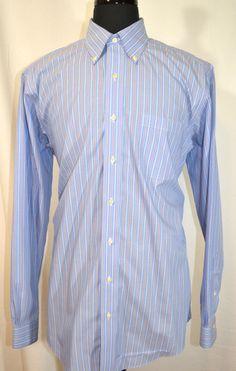 BROOKS BROTHERS 346 Men's Non Iron long sleeve dress shirt Size 16 - 6/7 #BrooksBrothers