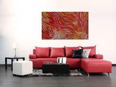 "Australian Aboriginal Art Painting by ANNA Price PETYARRE (Pitjara) ""Yam Roots"" 152 x 90 cm. AP1938 #artwork #canvas #australia #home"