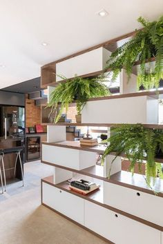 MT Apartment is a project designed by Oficina Conceito Arquitetura. Home Interior Design, Interior Design Software, Office Interior Design, House Interior, Home Living Room, Room Partition Designs, Salon Interior Design, Asian Home Decor, Interior Design Gallery