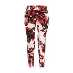 #René Lezard Damen Stoffhose mit Rippenstruktur und floralem Muster #Bekleidung…