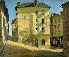 """James Proudfoot (British, 1908-1971), Sun on a House, Dieppe, 1937. Oil on canvas. """""""