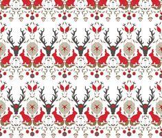 Geo Deer - Light Pink by Andrea Lauren - andrea_lauren - Spoonflower