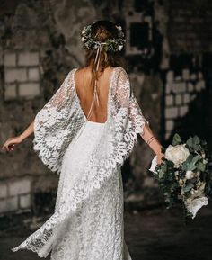 Designed for the wild romantic, our Verdelle gown is effortless, yet captivating. Shop online or book your bridal appointment with Grace Loves Lace today! Bohemian Wedding Dresses, Boho Dress, Bridal Dresses, Dress Lace, Natural Wedding Dresses, Bobo Wedding Dress, Hippie Chic Weddings, Rustic Bohemian Wedding, Bohemian Bride