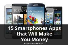 Learn how you can earn money from home with some great smartphone apps. These ways aren't necessarily a way to make a real living, but they can help you regain some of the cost of your cell phone bill and also put a few extra dollars in your pocket.