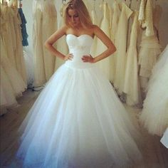 wedding ball gown - beautiful shape with white pants under it for dancing or traveling