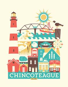 Chincoteague print  11 x 14 in. by twitteringbird on Etsy, $15.00
