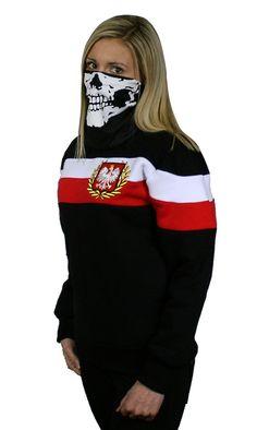 Damska bluza 'Chorągiew' - przód ---> Streetwear shop: odzież uliczna, kibicowska i patriotyczna / Przepnij Pina!