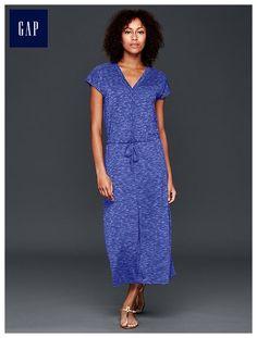 Tie-waist maxi dress