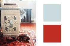 Blue Cashmere + Turkish Red